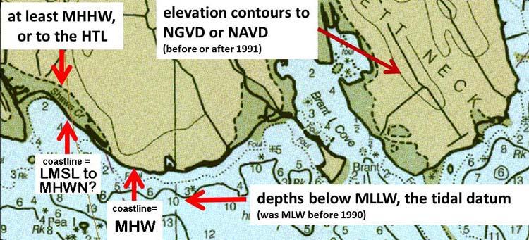 nautical chart elevations